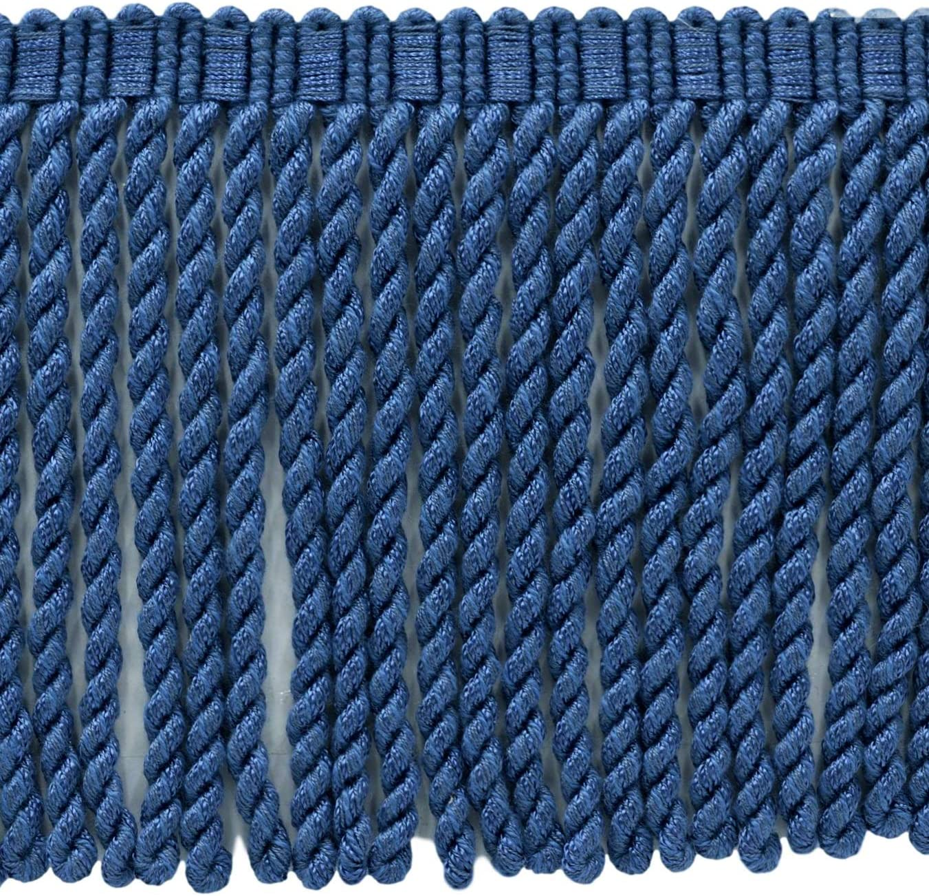 M45|Sold by The Yard D/ÉCOPRO 6 Inch Long|French Blue Bullion Fringe Trim|Style# BFSCR6|Color