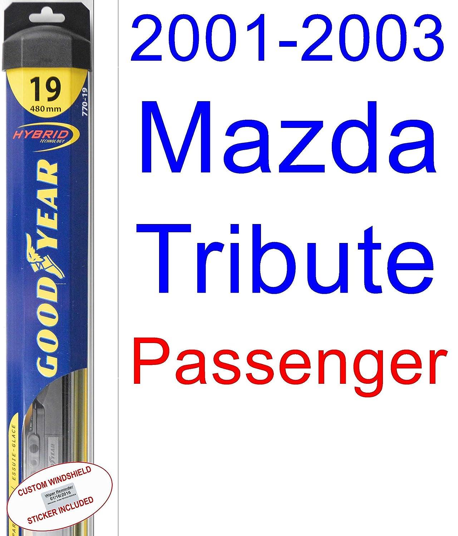 Cheap 2001 2003 Mazda Tribute Wiper Blade Passenger Goodyear Exhaust System Diagram On Engine Blades