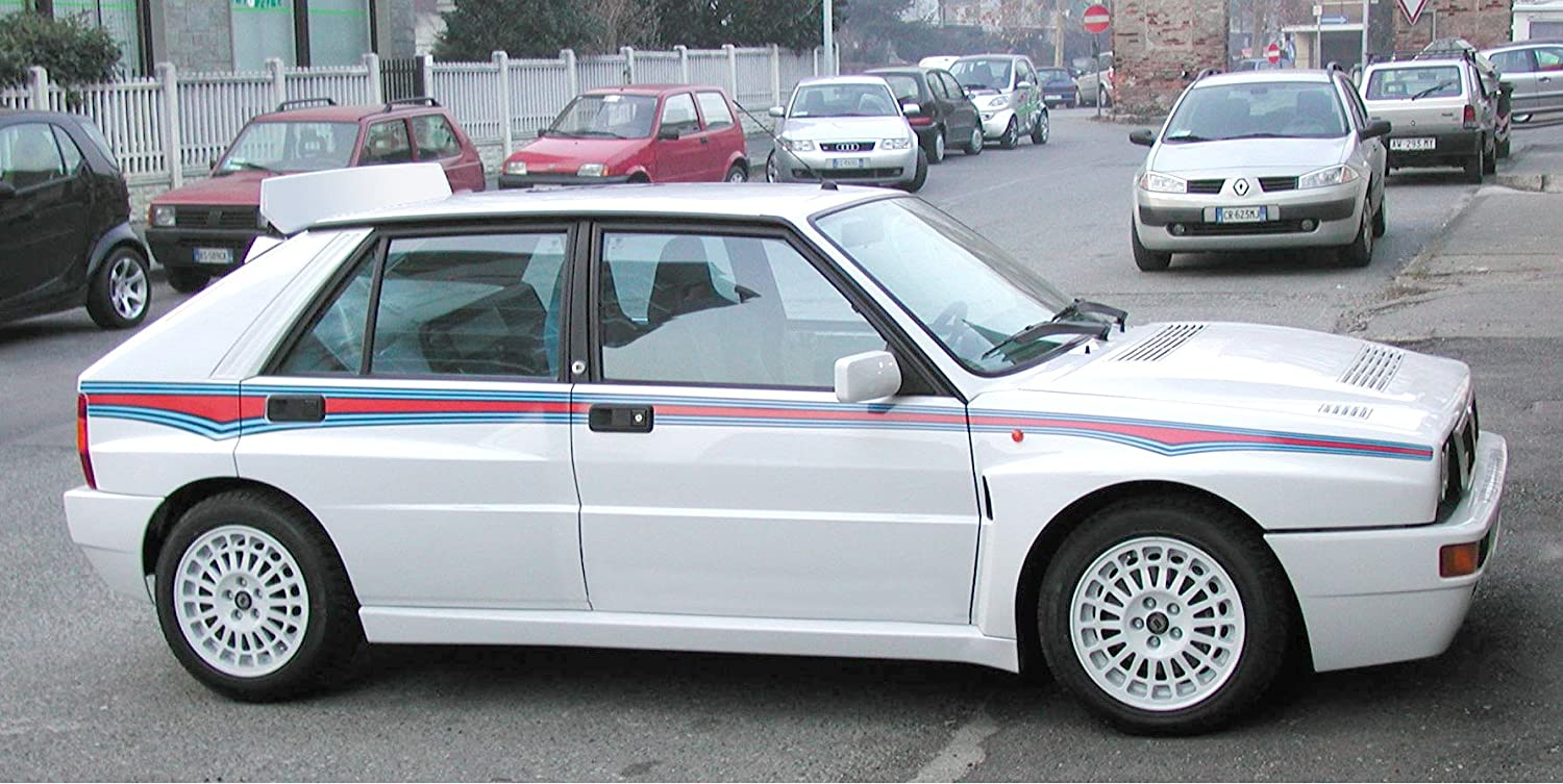 Martini 6 livery sticker kit for Lancia Delta HF Evo Gr. A: Amazon.co.uk:  Car & Motorbike