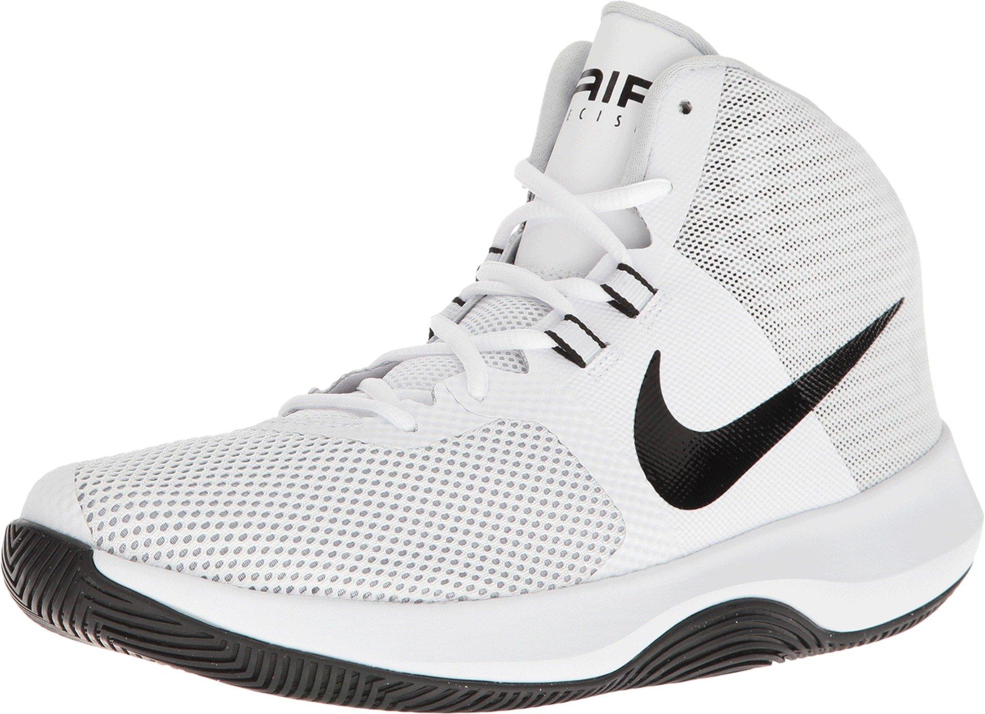 Nike Mens Air Precision Basketball Shoe, White/Black-Cool Grey-Pure Platinum 8