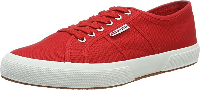 Superga 2750 Cotu Classic Sneakers Low-Top Unisex Damen Herren Rot