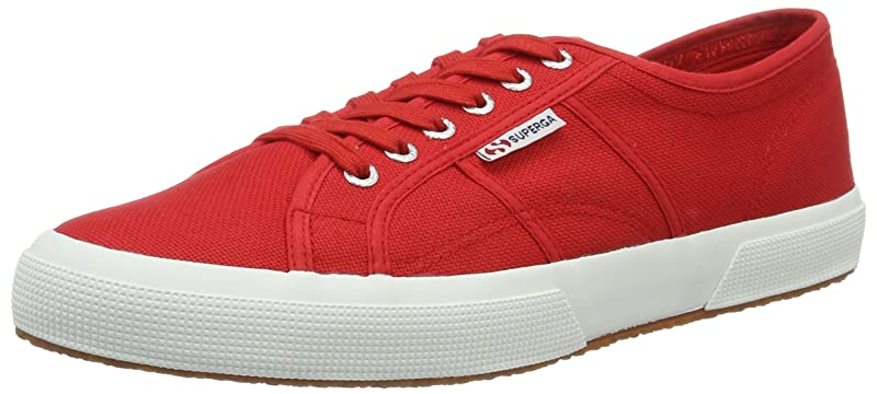 Superga 2750 Cotu Classic Sneakers Low-Top Unisex Damen Herren Rot (Red White)