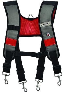 TradeGear Ligero ajustable Hecho de tela 600D muy resistente ergon/ómico Tirantes para cintur/ón de herramientas con correa para el pecho y funda para tel/éfono