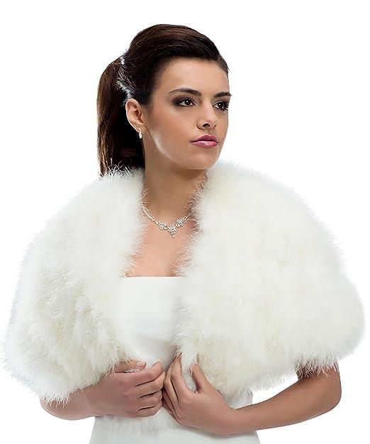 mgt-shop Shop Mujer Novia estola Bolero novia Chaqueta Cape ...