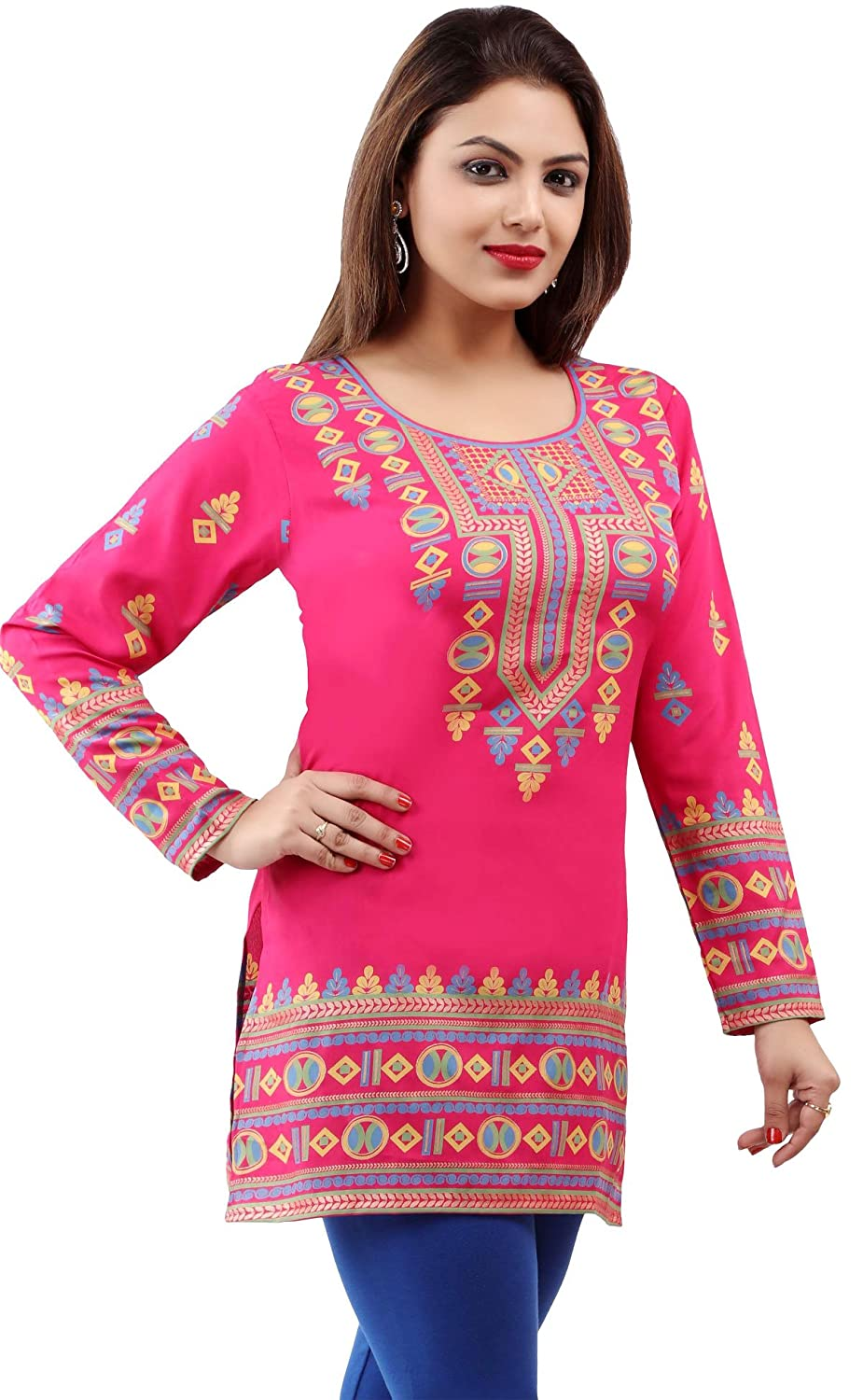 68e59ef2d2 Indian Tunic Top Womens Kurti Printed Blouse India Clothing Event28C larger  image