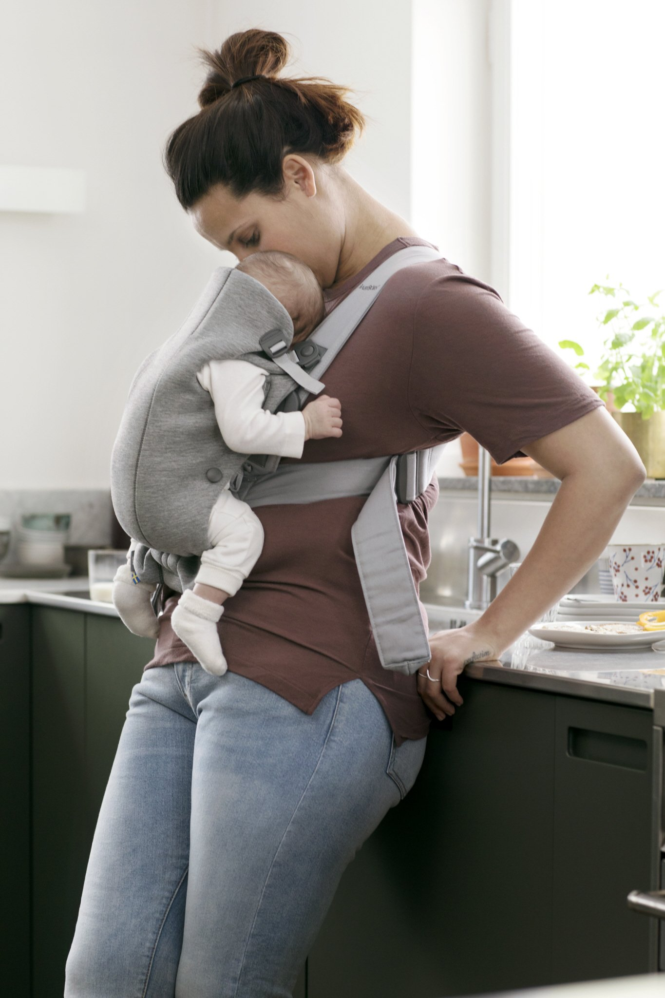 BABYBJORN Baby Carrier Mini in 3D Jersey, Light Grey by BabyBjörn (Image #3)