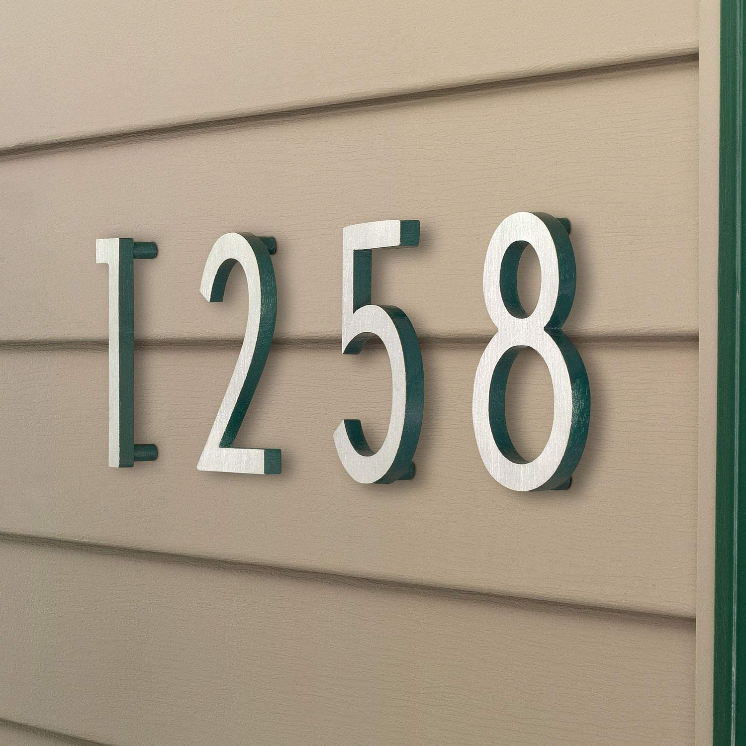 4 inches x 3 inches x 0.31 inches White Montague Metal Products MHN-04-7-F-WE1 Floating House Number