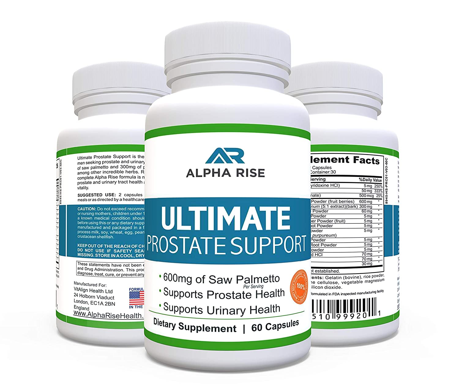 TOP RATED Prostate Supplement - Best Prostate Health Supplement - 600mg Saw  Palmetto +