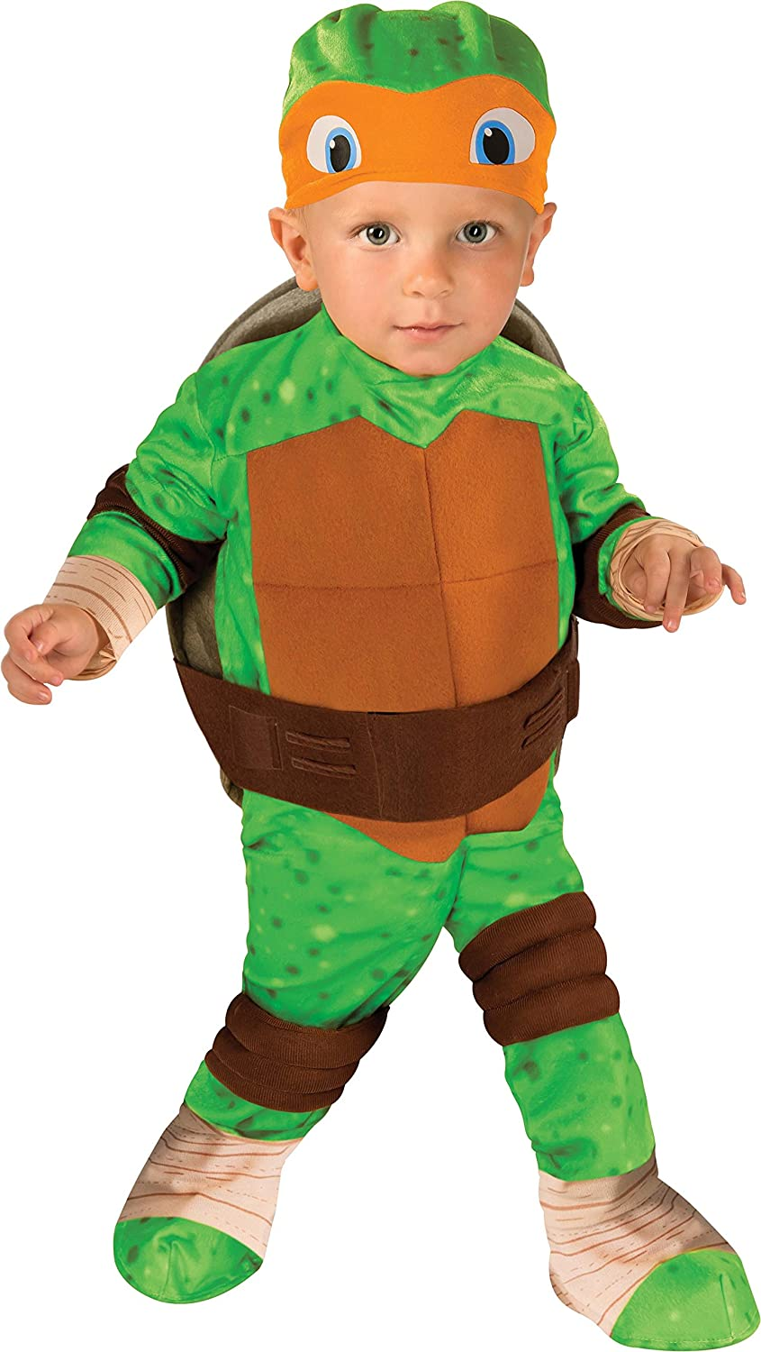 Amazon.com Nickelodeon Teenage Mutant Ninja Turtles Michelangelo Romper Shell And Headpiece Clothing Sc 1 St Amazon.com  sc 1 st  Germanpascual.Com & Ninja Turtle Costume For Baby u0026 Baby Raphael Costume - Teenage ...