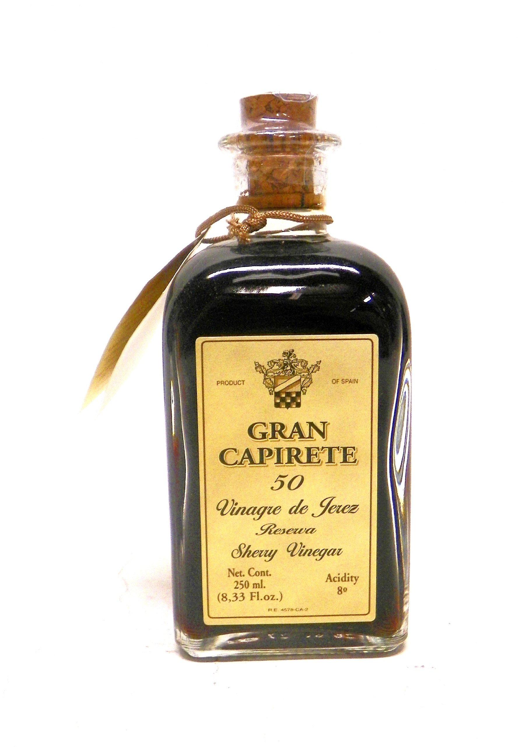 Gran Capirete Sherry Vinegar Vinegret De Jerez 50 Years Vintage, 8.3-Ounce 1 An 8.3-ounce bottle Aged in barrels of American oak Elaborated following the traditional solera system for a unique taste