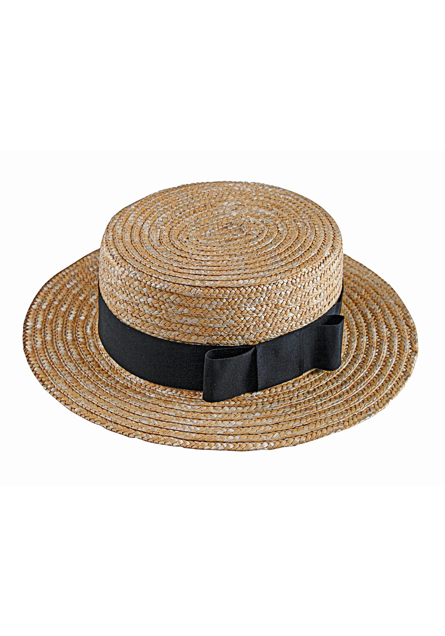 Fun World Men's Love Lucy Ricky Straw Hat and Bow Tie, Brown, Standard