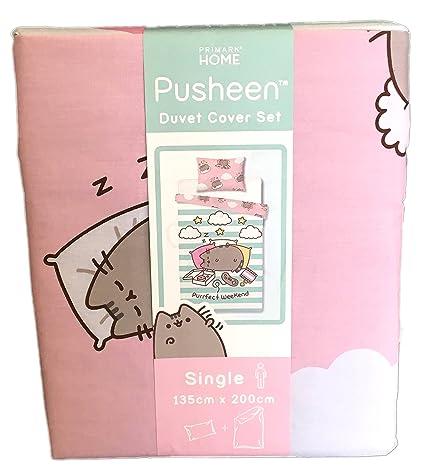 1c44e3bdf190b Pusheen The Cat Duvet Cover Set Single Double King Reversible (Single 135  cm x 200 cm + 1 Pillowcase