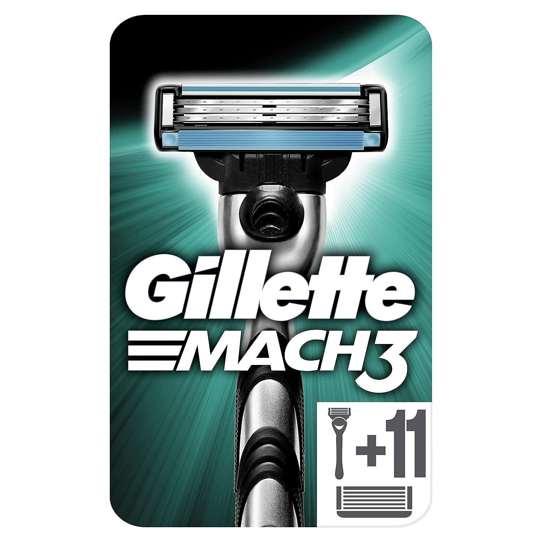 Gillette Mach3 - Maquinilla De Afeitar Para Hombre + 11 Recambios Procter & Gamble 108038705 FlexBall Fusion