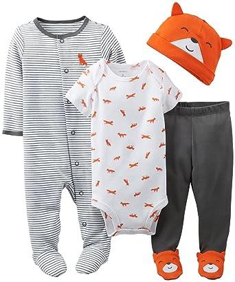 Amazon.com: Carter's Baby Boys' 3 Piece Layette Set (Baby ...