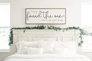 I Have Found The One Whom My Soul Loves Sign, Above The Bed, Song of Solomon Sign, Bedroom Sign, Master Bedroom Sign, Wood Sign, Large Sign 12
