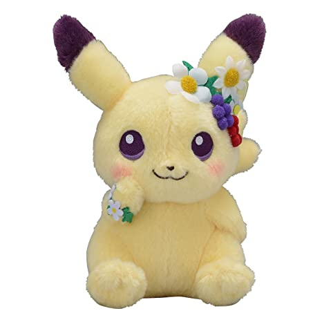 Amazon.com: Pokemon Center Original Plush Peluche Pikachu Easter Garden Party 7.1