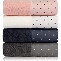 Kenuox Cotton Hand Towels Set of 4 - Bath Towels Face Towel Set, 13 x 29 Inches 100% Combed Ring Spun Cotton, Ultra Soft…