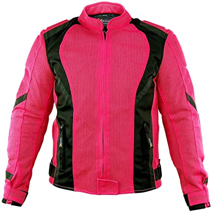 Xelement Impulse Women/'s Black//Neon Green Mesh Armored Motorcycle Jacket 4XL