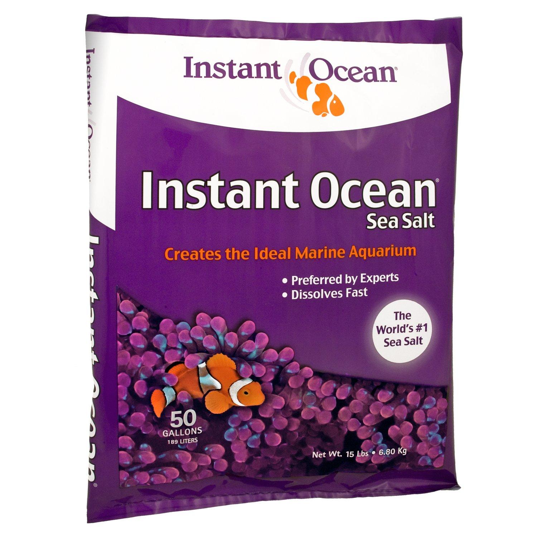 Instant Ocean Sea Salt for Marine Aquariums, Nitrate & Phosphate-Free, 50-Gallon by Instant Ocean
