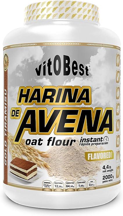 Harina de Avena Sabores Variados - Suplementos Alimentación y Suplementos Deportivos - Vitobest (Tiramissu, 2 Kg)