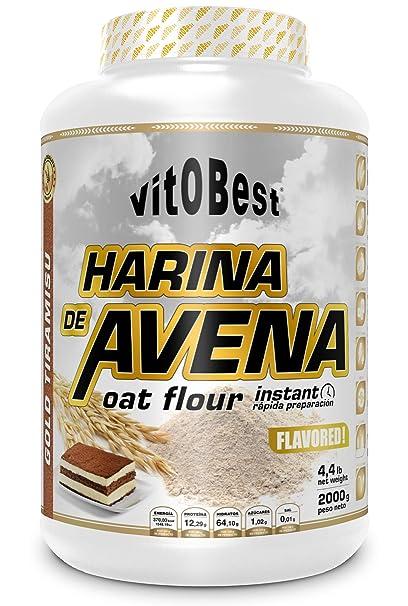 Harina de Avena Sabores Variados - Suplementos Alimentación y Suplementos Deportivos - Vitobest (Galleta, 2 Kg)