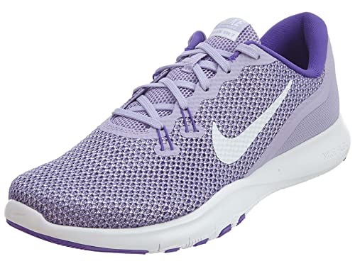 481a9c9eae2c Nike Women s W Flex Trainer 7 Hydrangeas Wht-Hyper Grape Multisport  Training Shoes-