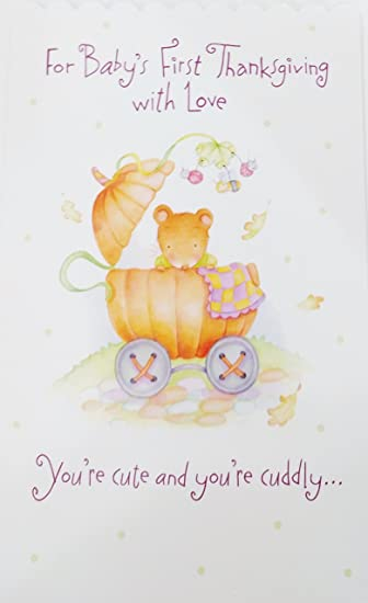 Amazon for babys first thanksgiving with love greeting card for babys first thanksgiving with love greeting card quotyou make this the nicest m4hsunfo