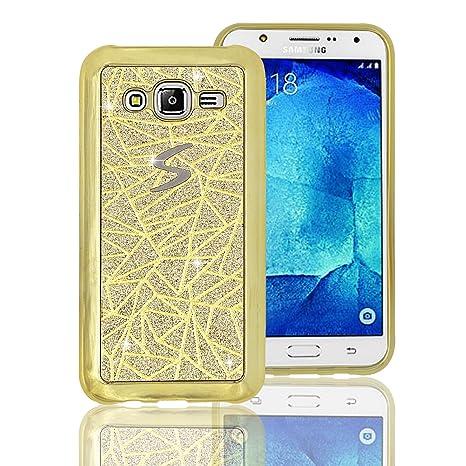 Vandot Samsung Galaxy J5 2015 móvil, Vandot brillante bling Carcasa para Samsung Galaxy J5 2015 J500 Double Carcasa Case Cover Pantalla Táctil TPU ...