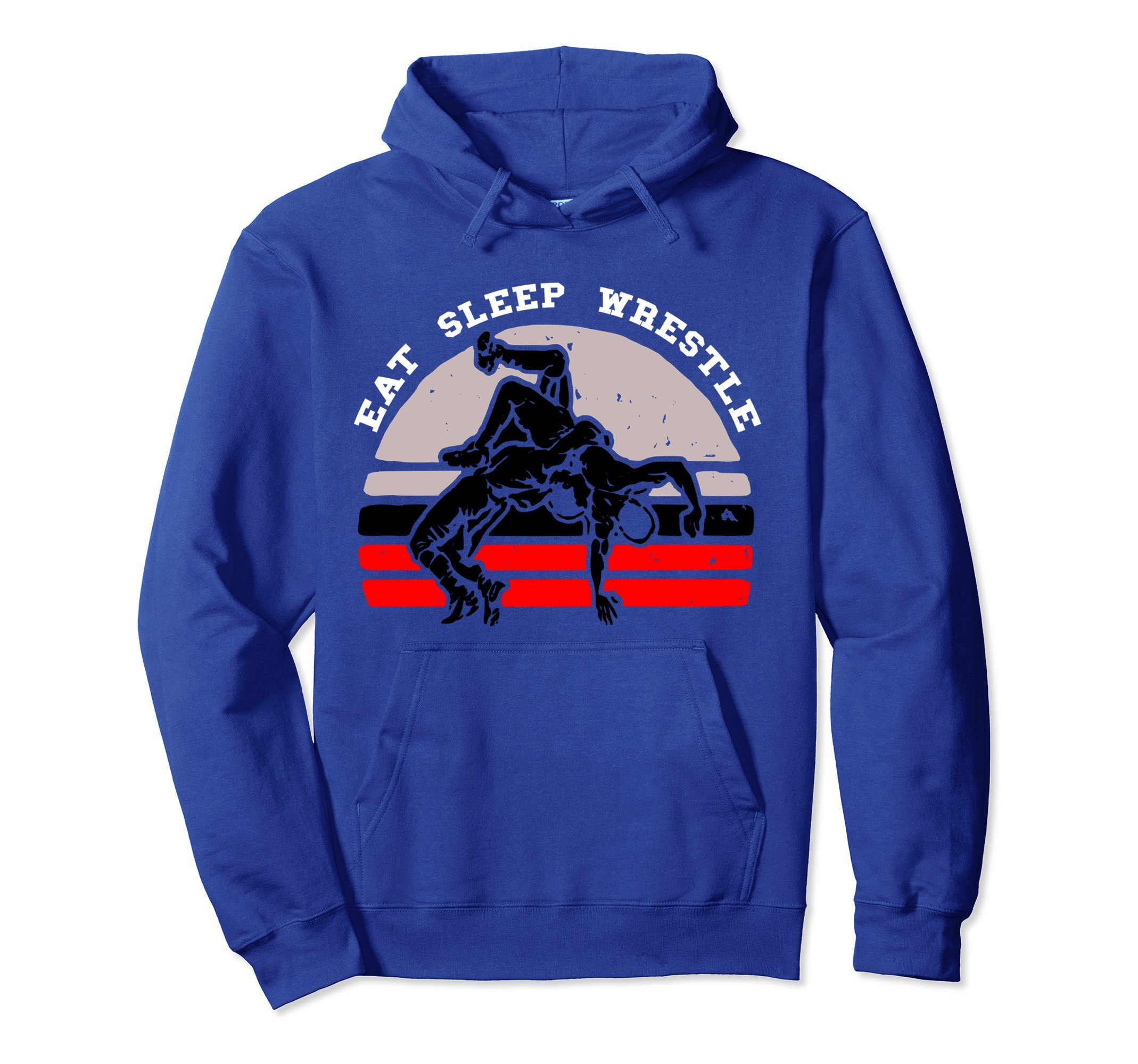 Unisex Eat Sleep Wrestle Hoodie Men, Women, Teens Gifts 2XL Royal Blue