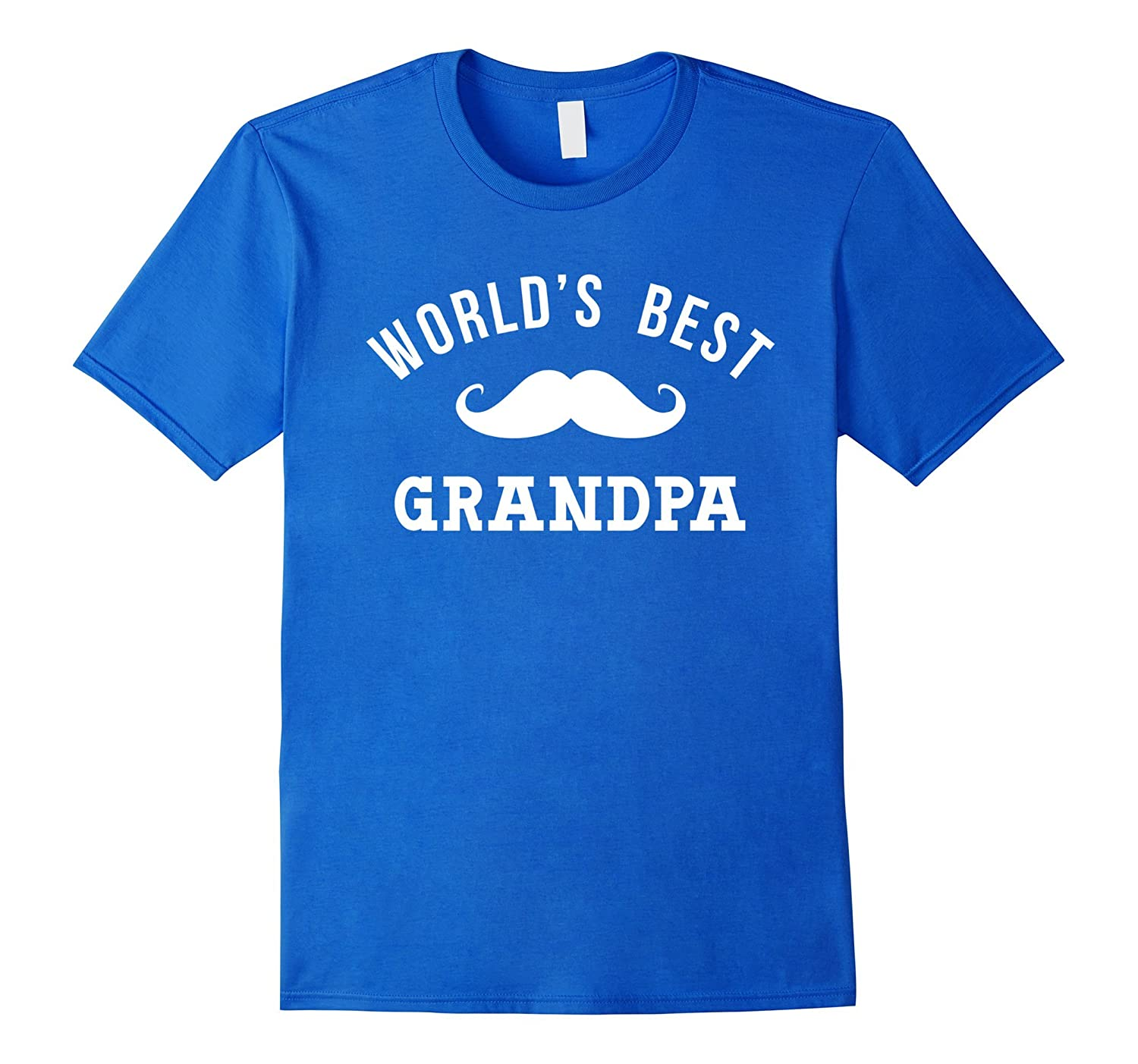 Worlds Best Grandpa Shirt Funny Cute Papa Fathers Day Gift-TH