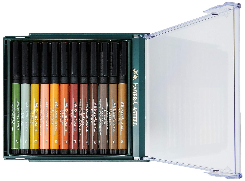 Faber-Castell 267422 - Pack de 12 rotuladores Pitt punta de pincel