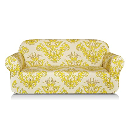 Beau TIKAMI Printed Floral Couch Covers Stretch Sofa Slipcovers For Loveseat  Stylish Furniture Protector For Living Room