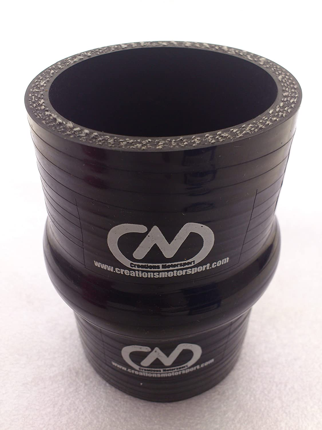 SILICONE HUMP JOINER PIPE 60mm Black creationsmotorsport