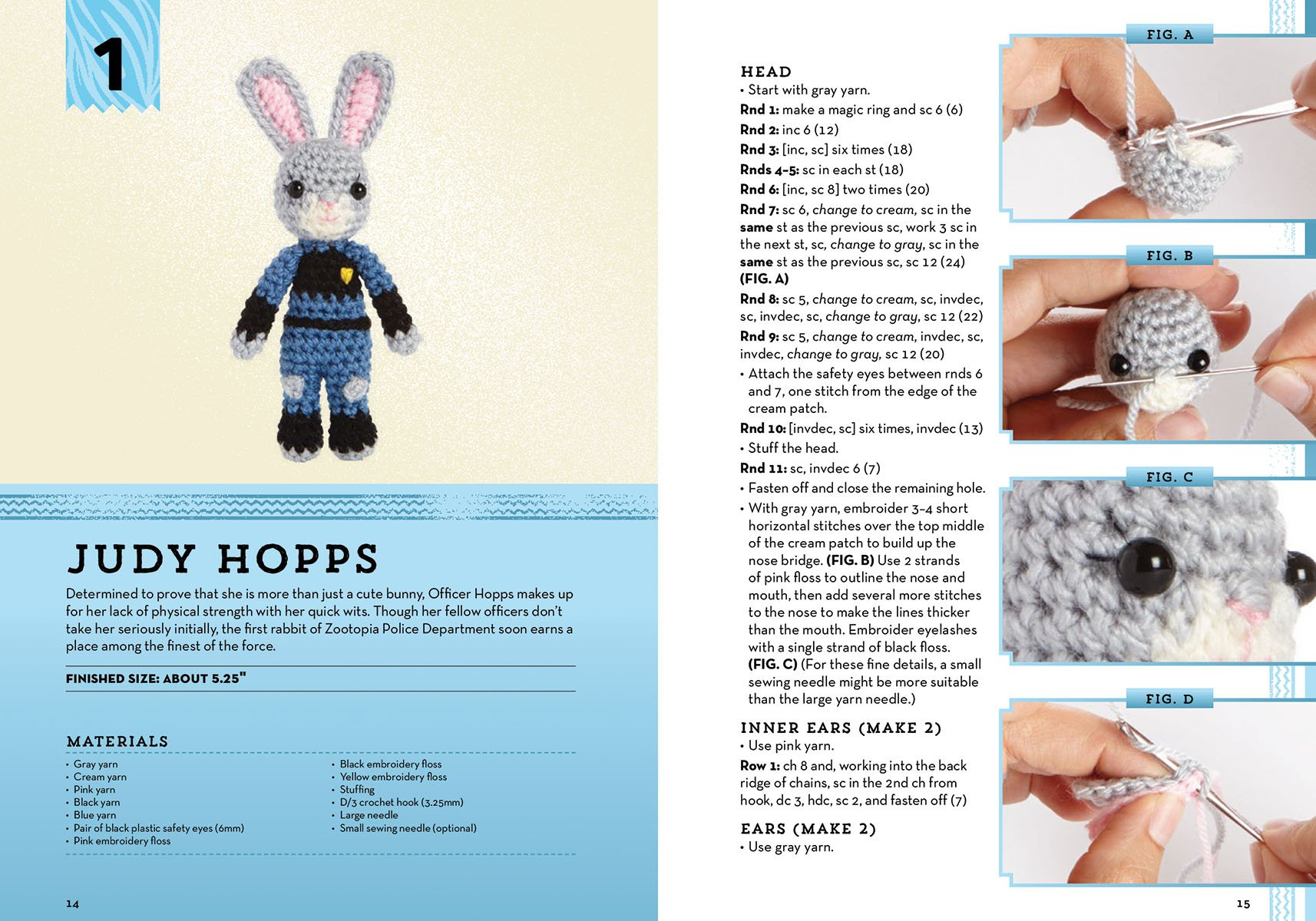Crochet Collector/'s patterns Bunch o/' Bunnies ~ Quick /& Easy Tiny Bunny Rabbits