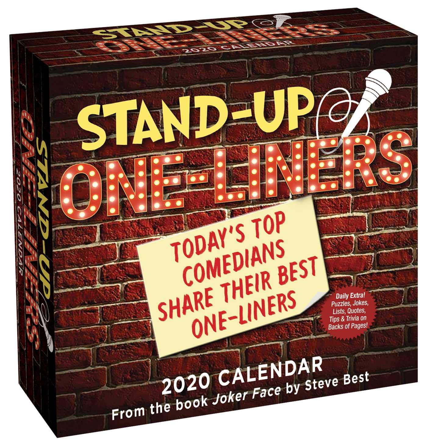 Best Stand Up Comedians 2020.Stand Up One Liners 2020 Day To Day Calendar Today S Top