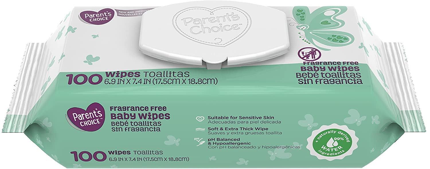 Amazon.com: Parents Choice Fragrance Free Baby Wipes, 12 packs of 100 (1200 ct): Baby