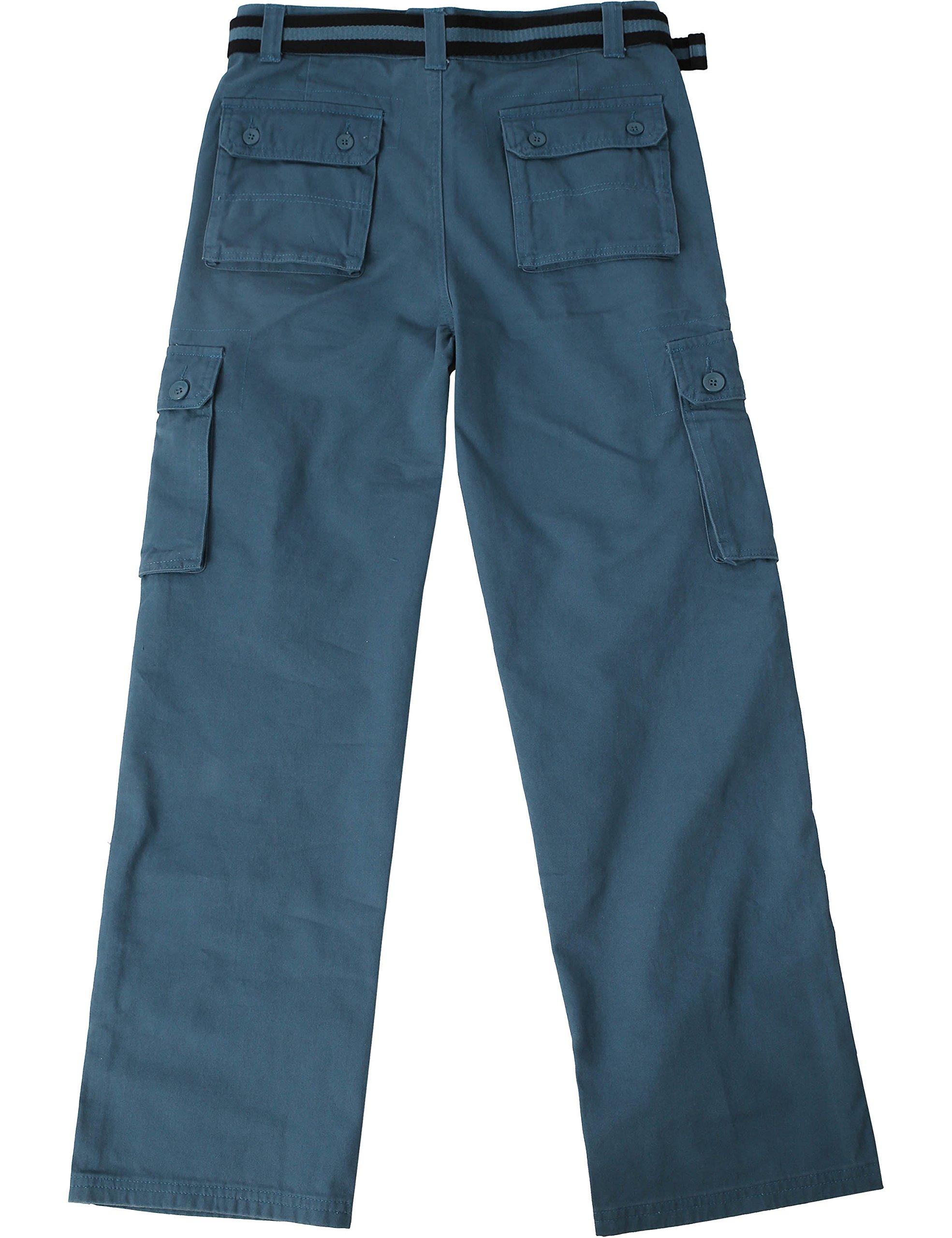 Ma Croix JP Mens Cargo Pants with Utility Belt (40/ pj01_dkblue) by Ma Croix (Image #2)