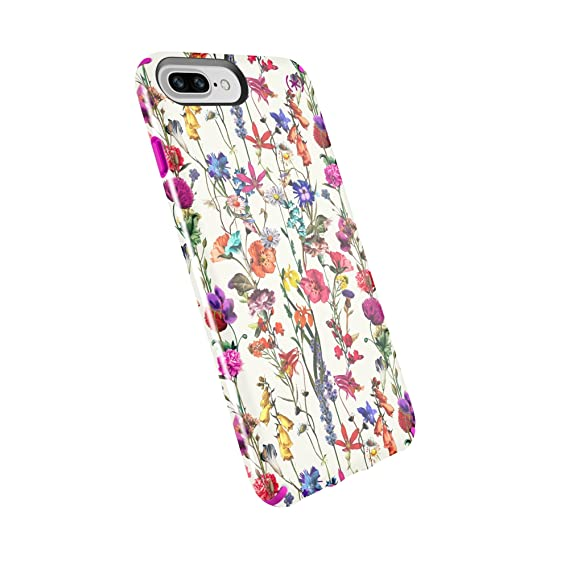huge discount 758c0 c4275 Speck Products Compatible Phone Case for Apple iPhone 8 Plus/iPhone 7  Plus/iPhone 6S Plus, Presidio Inked Case, Whiteflowers/Lipstick Pink