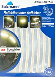Salzmann 3M スコッチライト 反射ステッカー、16枚セット (ホワイト)
