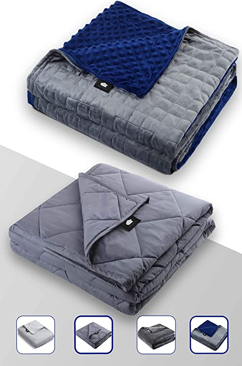 DREAMality Premium Weighted Blanket 20 lbs SET Includes Cooling Blanket Inner /& Removable Fleece Weighted Blanket Cover Queen Size Throw Heavy Blankets 60x80 Weighted Blanket Adult or for Kids