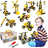 Kids STEM Toys, Educational Building Toy Learning Kit, 9 in 1 Construction Blocks for Preschool Toddlers, 108 Pieces Creative