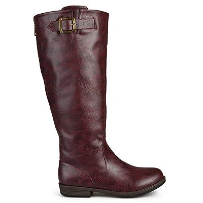 Brinley Co Women's Joani Riding Boot Regular & Wide Calf | Knee-High