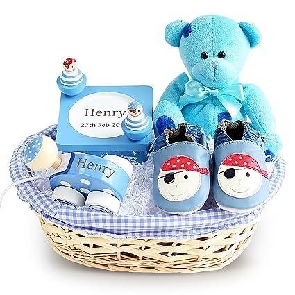Cesta de regalo para bebé Pirate Ahoy (personalización opcional ...