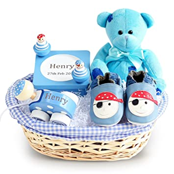 9a9169a5e4eb0 Pirate Ahoy Baby Gift Basket (Optional Personalisation)