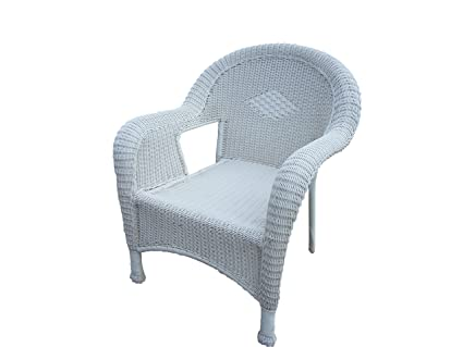Oakland Living Resin Wicker Arm Chair, Set of 2