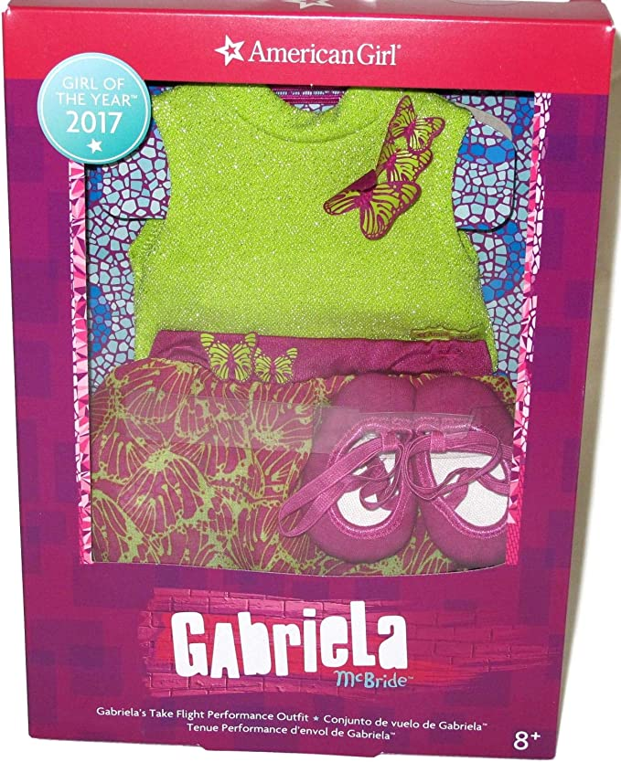 """American Girl Doll Gabriela/'s Showtime Kit New In Box 18"""" Accessories Complete"""