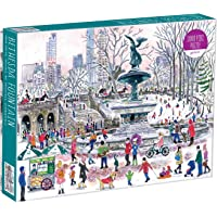 "Galison Michael Storrings Bethesda Fountain Jigsaw Puzzle, 1000 Pieces, 27"" x 20'' - Illustrated Art Puzzle with Scene…"