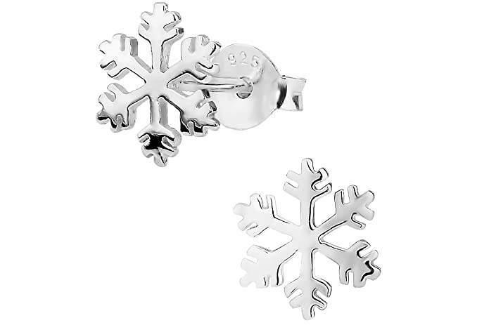 Hypoallergenic Sterling Silver Snowflake Stud Earrings for Kids (Nickel Free)