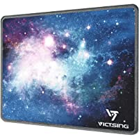 VicTsing Mouse Pad with Stitched Edges, Premium-Textured Mouse Mat Pad, Non-Slip Rubber Base Mousepad for Laptop, Computer & PC, 10.2×8.3×0.8 inches, Glaxy