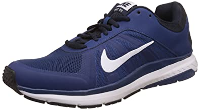 competitive price a19c0 07046 Nike Men s Dart 12 MSL Coastal Blue, White and Dark Obsidian Running Shoes  - 10